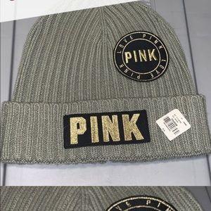 Pink Victoria secret beanie